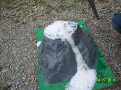 How to make a paper mache volcano