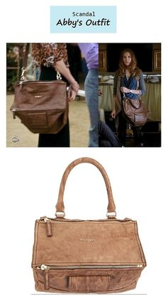 "On the blog: Abby's (Darby Stanchfield) tan messenger handbag |  | ""More Cattle, Less Bull"" (Ep. 305) #tvstyle #tvfashion #fashion #accessories"