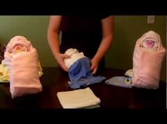 """▶ How to make a diaper """"Swaddle Baby"""" (Diaper Cake) - YouTube"""