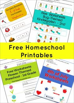 Dozens of Free Homeschool Printables | The Happy Housewife