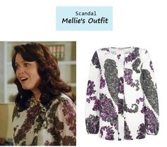 "On the blog: Mellie Grant's (Bellamy Young) floral blouse | Scandal - ""Icarus"" (Ep. 306) #tvstyle #tvfashion #outfits #fashion #FLOTUS"