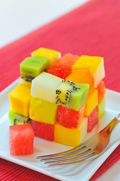 Salade de fruits version rubikcube
