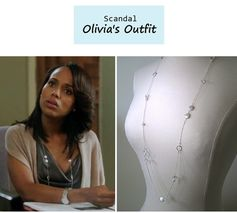 """On the blog: Olivia Pope's (Kerry Washington) strand necklace 