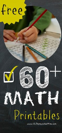 Over 60 free worksheets and games for math enrichment for preschool, kindergarten, 1st grade, and 2nd grade!