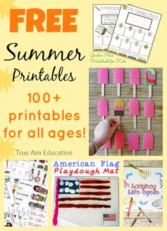 Free Summer Printables for Kids! Over 1000 pages! - Putting some in sheet protectors and using a dry erase marker to make them reusable.