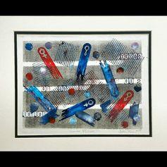 Gender Pinball, 2015 Monoprint Yolanda Cotton Turner
