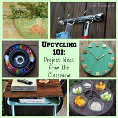 Upcycling 101: Repurposed School and Classroom Items | Sadie Seasongoods - Featured at the #HomeMattersParty 56