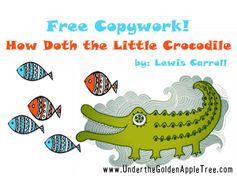 FREE Copywork - Lewis Carroll poem