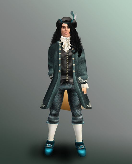 Teal 18th Century Johann outfit.