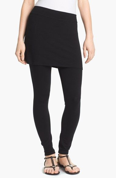 Free shipping and returns on Eileen Fisher Skirted Ankle Leggings (Regular & Petite) at Nordstrom.com. A modern layered look comes together in one easy, smooth-fitting piece with a short skirt attached to stretchy leggings.