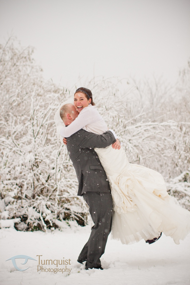 fun in the snow.wedding photography