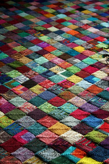 sock yarn blanket, so beautiful