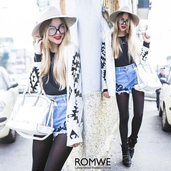 ROMWE+Tribal+Geometric+Cropped+Sleeves+Apricot+Cardigan