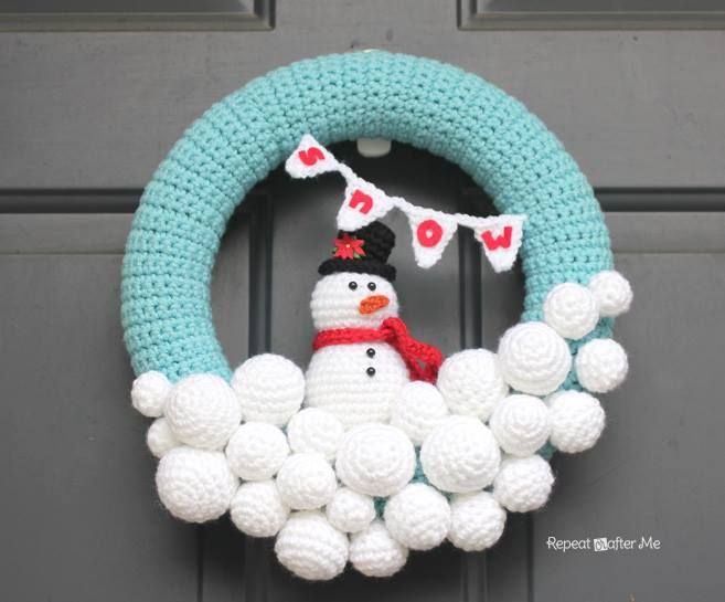 Nice crochet wreath