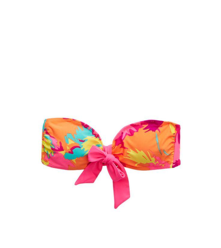 Miami Pink Aerie Bandeau Bikini Top