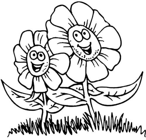 happy flower pages kids pages pinterest