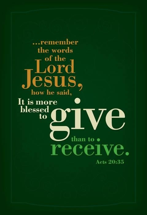 Giving And Receiving Bible Quotes QuotesGram