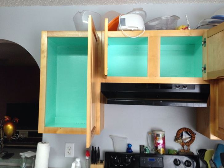 Teal Inside Kitchen Cabinets House Stuff