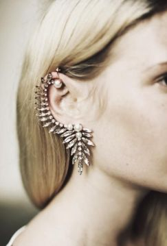 Accessory Inspiration / Ear Cuffs / Wedding Style Inspiration / LANE. View a gallery of our favourite styles on The LANE http://thelane.com/the-guide/fashion/accessories/ear-cuffs