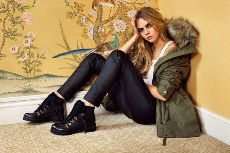 Gesicht der Herbst/Winter 2014 Kampagne von Topshop: Cara Delevingne