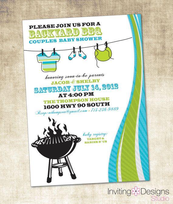 Baby Shower Invitation BBQ Baby Shower by InvitingDesignStudio, $15.00