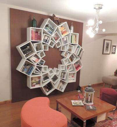 i want i want i want!!!!!!!!DIY Mandala Pattern Bookshelf... very creative!