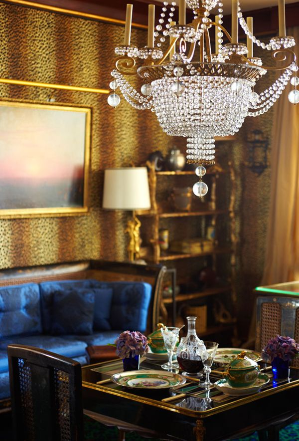 leopard print dining room // photo by brie williams #drama