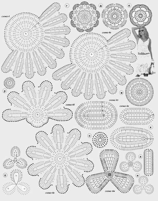 a nice jacket or blanket, or shawl with these flower motives