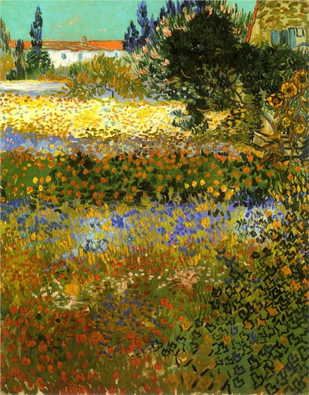 Flowering Garden, Vincent van Gogh, 1888