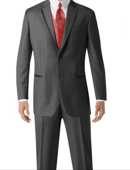 Coral Vest And Grey Tux Prom Pinterest