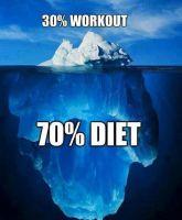 30% workout 70% diet