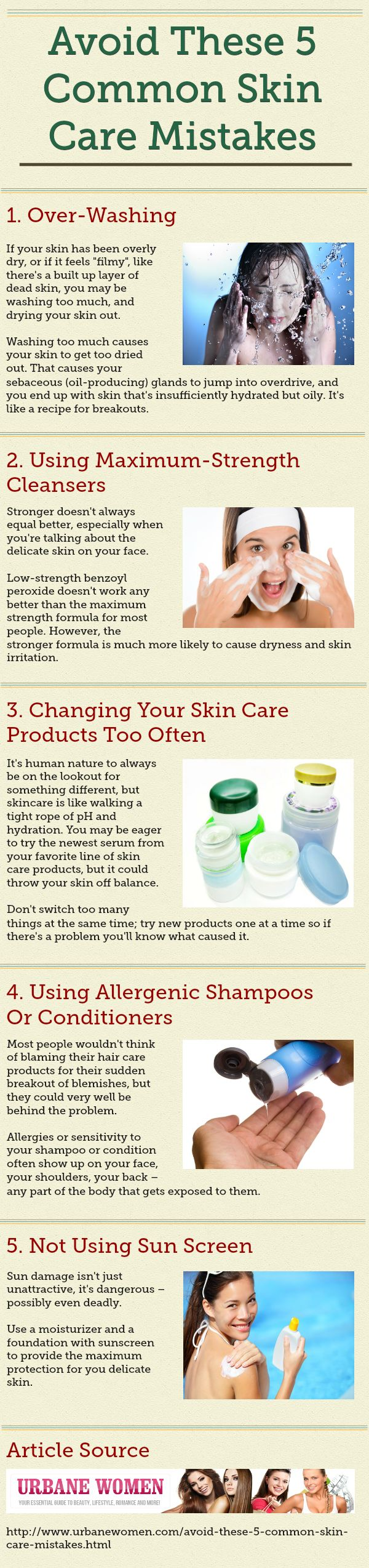 Avoid These 5 Common Skin Care Mistakes! For more health tips and anti-aging products, visit www.nuvosa.com