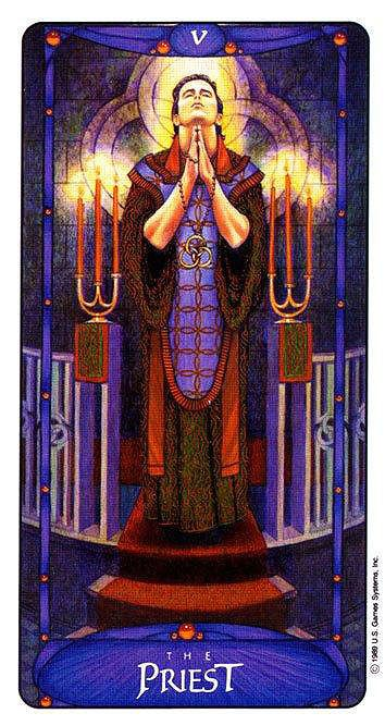 The Priest (The Hierophant) - Art Nouveau Tarot