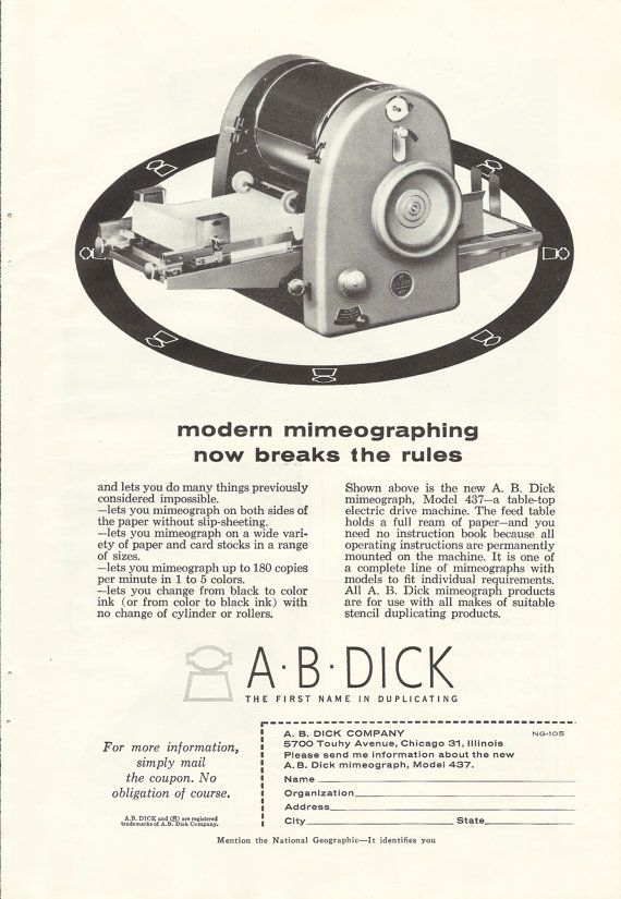 Image result for mimeograph