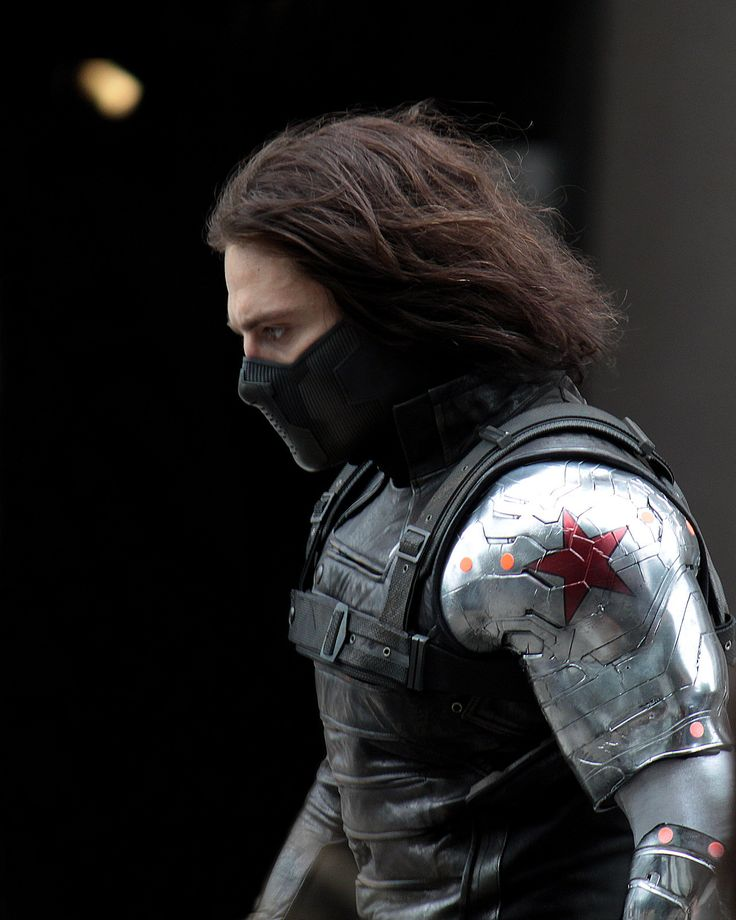 First shot I've seen of the Winter Soldier from Captain America 2...he looks so badass!!
