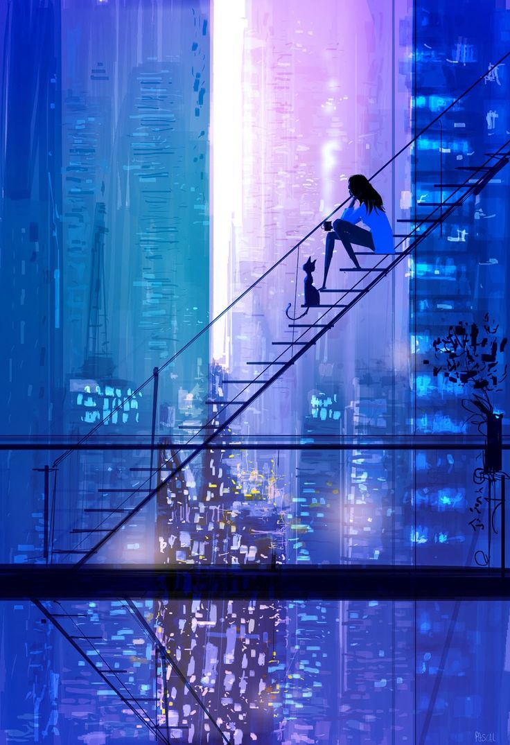 Wow - I love the colors, the depth and the feeling of this piece of art!  by pascal campion: The view.