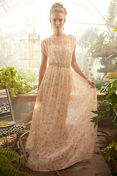 Peach Blossom Maxi Dress #anthropologie