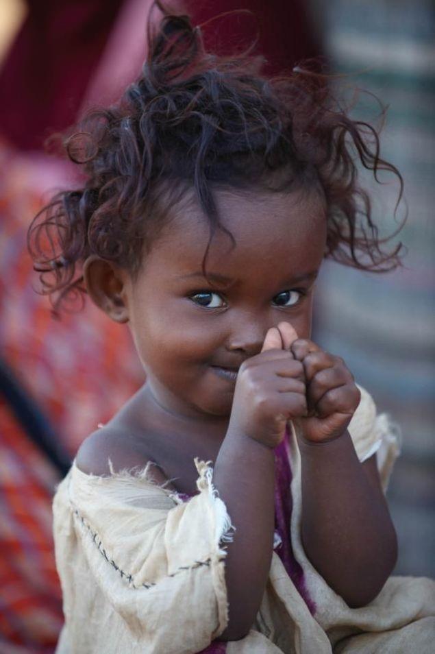 Beautiful shy smile from Somalia...
