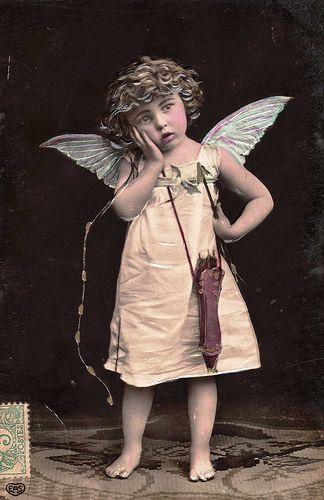 Image: Vintage Postcard ~ Cupid, found on flickrcc.net