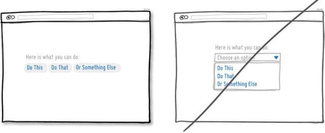 試著別隱藏頁面上的選項