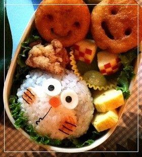 Doraemon onigiri bento