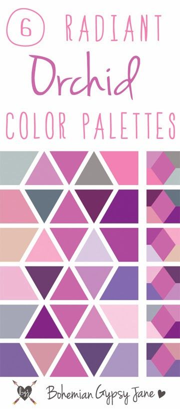 Bohemian Gypsy Jane: Radiant Orchid Color Palettes