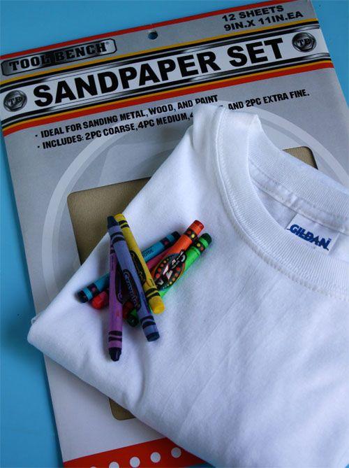 Sandpaper Printed T-shirt Kids Craft | Alpha Mom