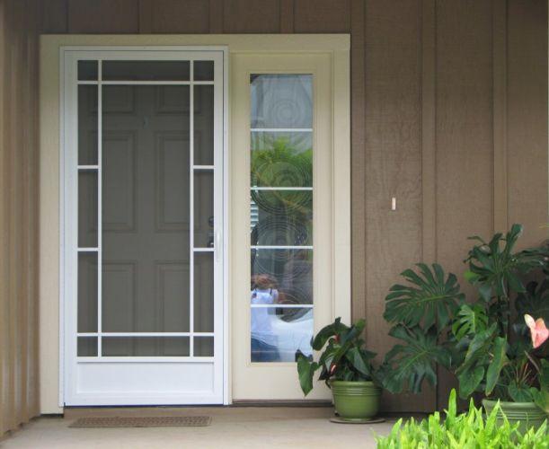 Aluminum Screen Aluminum Screen Doors Home Depot