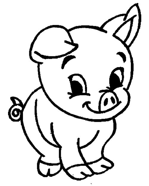 cute animal pig coloring pages kids coloring pages pinterest