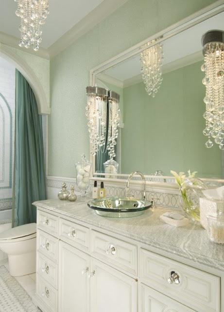 Light Green And White Bath Lovehouse Pinterest