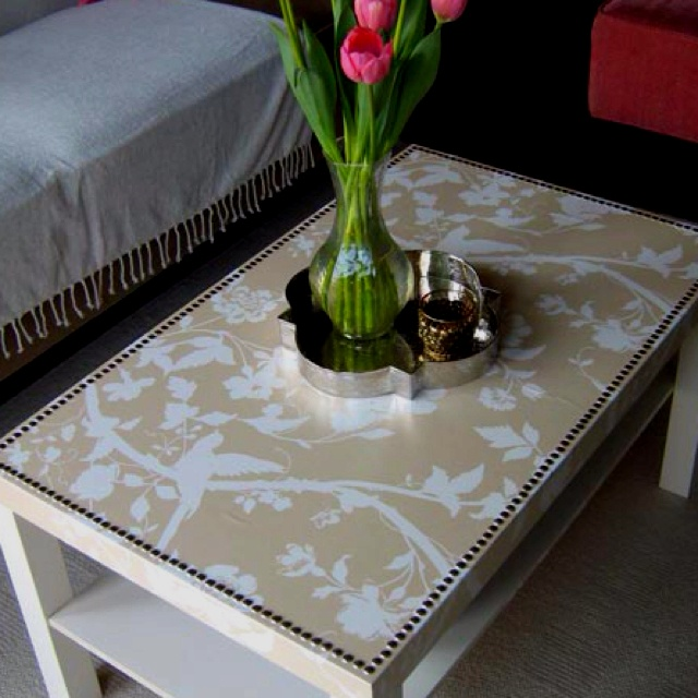 Wallpaper on an coffee table