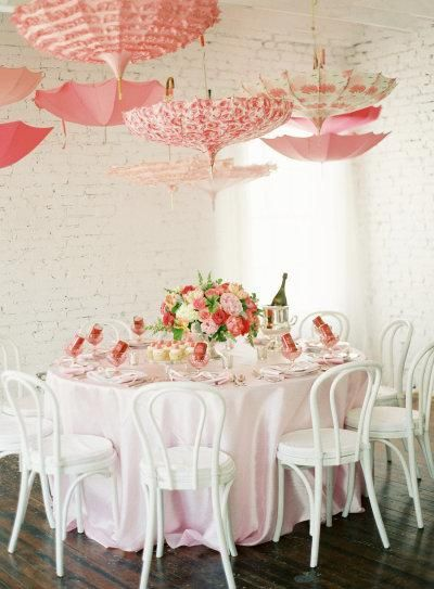 Get inspired: Pretty pink parasols.