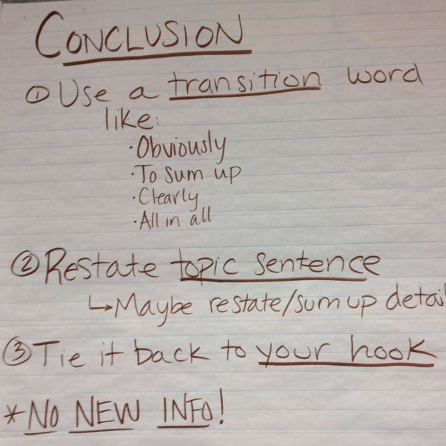 essay conclusions examples