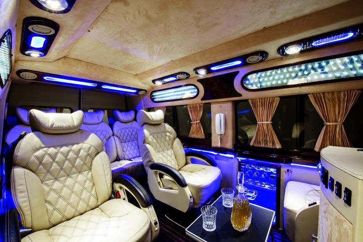 Modern Interior Inside Limousine VAN Our Fleet Pinterest